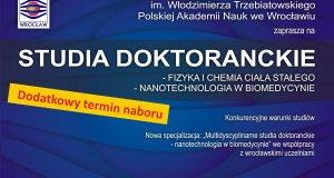 Rekrutacja uzupełniająca na Studium Doktoranckie w roku 2018