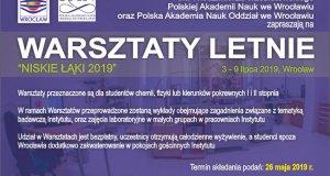 """Letnie Warsztaty Naukowe """"Niskie Łąki 2019"""""""