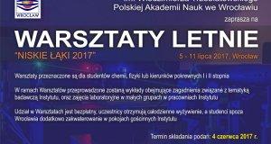 """Letnie Warsztaty Naukowe """"Niskie Łąki 2017"""""""