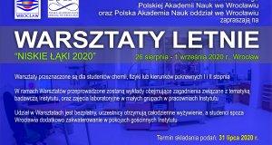 """Letnie Warsztaty Naukowe """"Niskie Łąki 2020"""""""